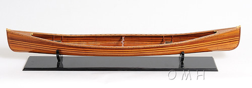 Wooden Strip Built Canadian Canoe Boat Model
