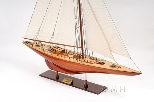 Endeavour Americas Cup Yacht Wood Model Sailboat