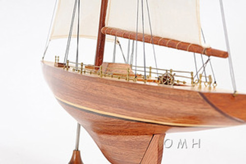 Columbia America's Cup Yacht Wood Model Sailboat