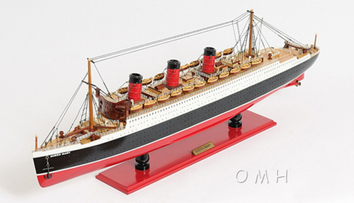 RMS Queen Mary Ocean Liner Wooden Model
