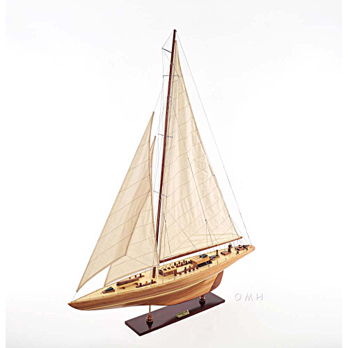 Endeavour America's Cup Yacht Wood Model Sailboat