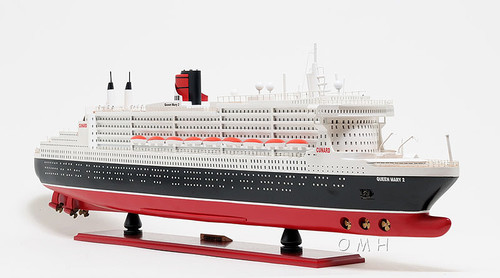 Queen Mary 2 Ocean Liner Wooden Model Cruise Ship