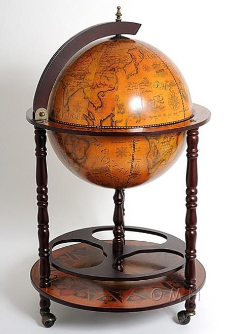 Nautical Old World Renaissance Globe Bar Furniture