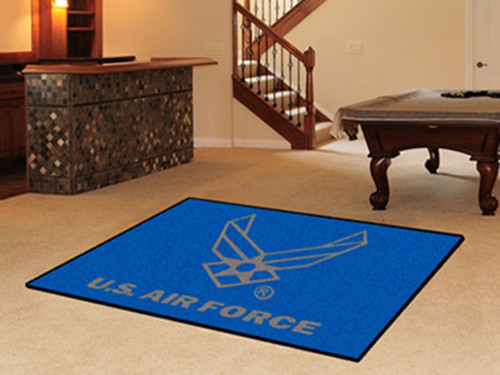 US Air Force Seal Logo 5' X 8' Area Rug Wall