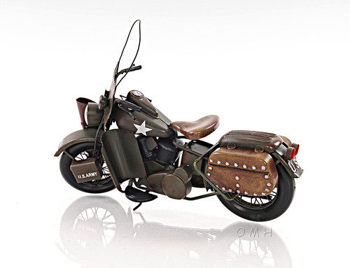 1942 Harley Davidson Army Motorcycle Metal Model