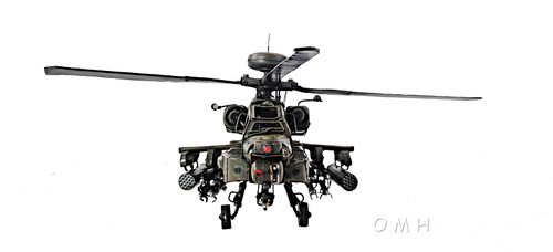 AH-64 Apache Metal Desk Top Model Attack Helicopter