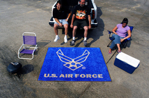 USAF AIR FORCE TAILGATING PARTY GEAR AREA RUG