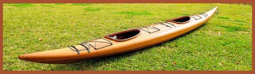 Tandem Cedar Wood Strip Kayak Woodenboat USA
