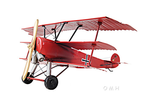 1917 Fokker Dr.1 Triplane Metal Desk Model