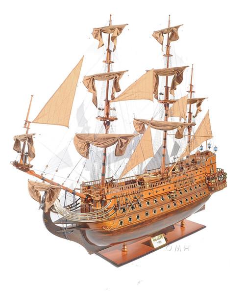 San Felipe 1690 Tall Ship Model Spanish Galleon