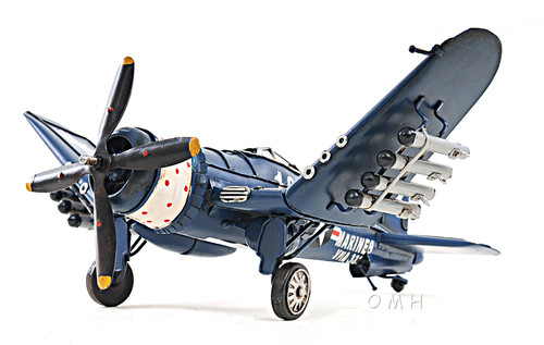 Chance Vought F4U Corsair Metal Desk Model WWII