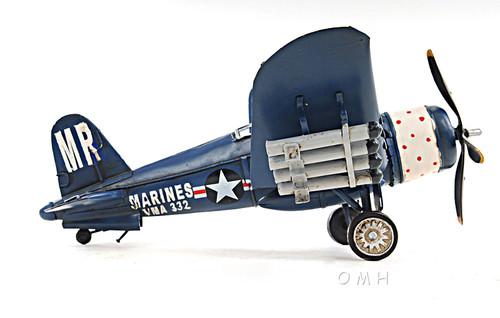 F4U Corsair Metal Desk Model WWII Airplane Decor