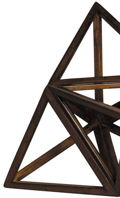 3D Geometric Fire Model Polyhedron Home Accent