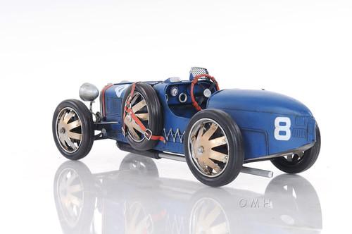1920s Bugatti Type 35 Metal Racing Car Model