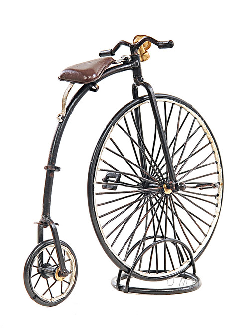 1870 High Wheeler Penny Farthing Bicycle Metal Desk Model