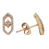 Gianna Stud Earring in 14K Yellow Gold and Diamonds