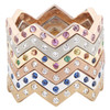 Lucia diamond and gemstone bands