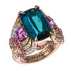 Mermaid Ring with Indicolite Tourmaline- One of a Kind!