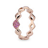Lucia Pinky Stacking Ring in Pink Sapphire