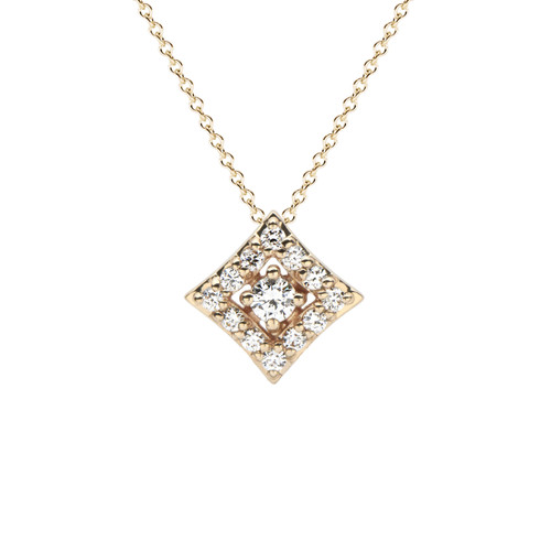 Regalo Diamond Pendant in Yellow Gold