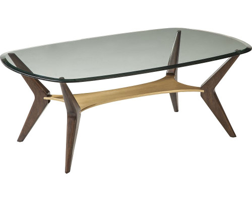 Aldena Glass Top Cocktail Table