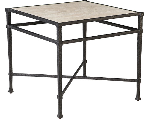 Arnoult Metal and Stone Lamp Table