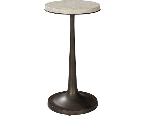 Gentilly Metal and Stone Spot Table