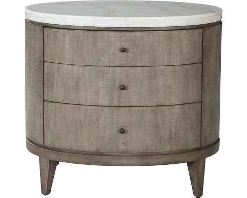 Broussard Night Stand with Stone Top