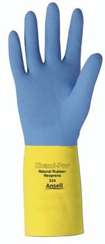 Ansell Chemi-Pro Unsupported Neoprene Gloves: 224-10