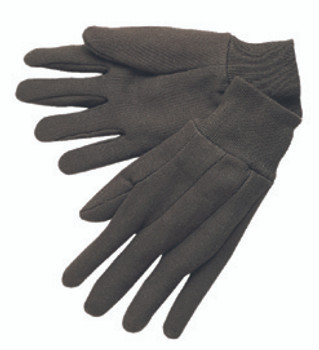 Memphis Brown Cotton Jersey Gloves (Large): 7100