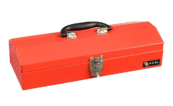 Portable Metal Toolbox (Red - 16 in.)