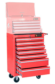 Seven Drawer Metal Roller Cabinet (Red or Black)
