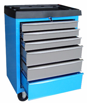Metal Roller Cabinet (Blue/Gray)