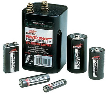 Bright Star Alkaline Batteries (9V): 31900