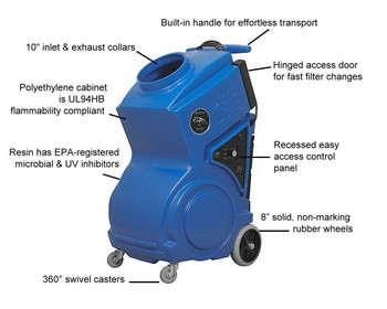 Portable Air Scrubber: PRED1200UV