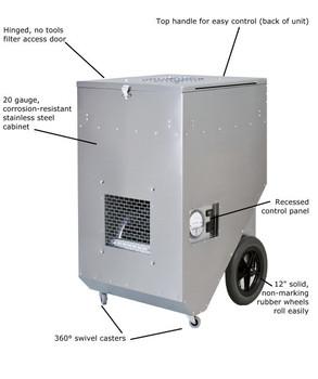 Abatement Technologies HEPA-AIRE® Portable HEPA-Filtration System: PAS1600S