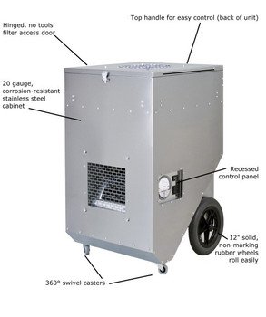 Abatement Technologies HEPA-AIRE® Portable HEPA-Filtration System: PAS1600SHS