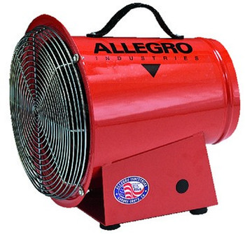 Allegro AC Axial Blowers (8 in.): Optional Canister