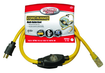 Coleman Cable CordRunner Vinyl Multiple Outlet Cords