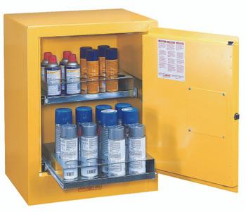 Justrite Sure-Grip EX Aerosol Can Safety Cabinets (4 Gallon): 890500