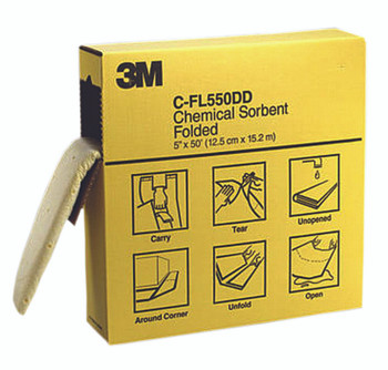 3M High-Capacity Folded Chemical Sorbents (5 in. X 50 ft.): C-FL550DD