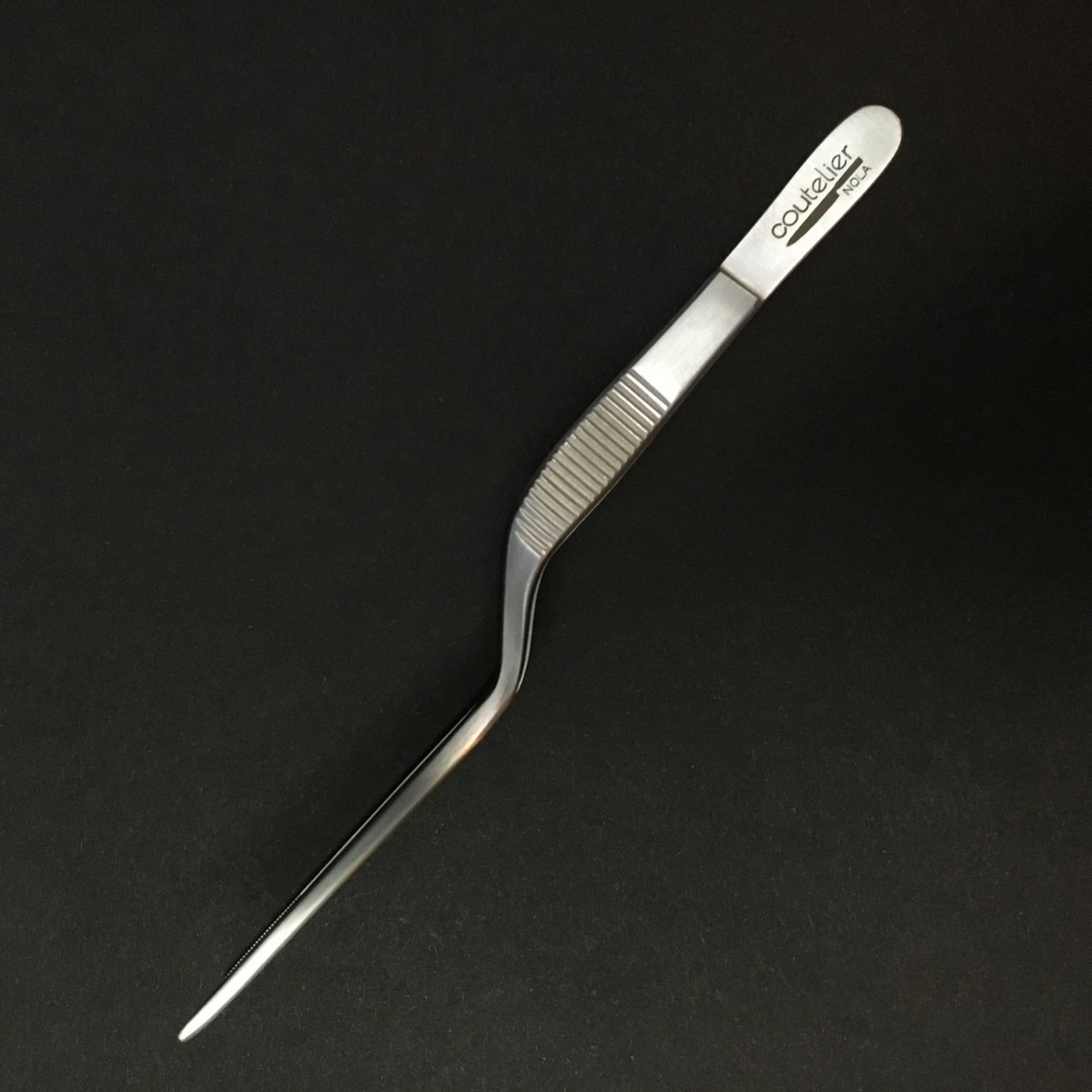 Tweezer - Offset - 14cm - Silver