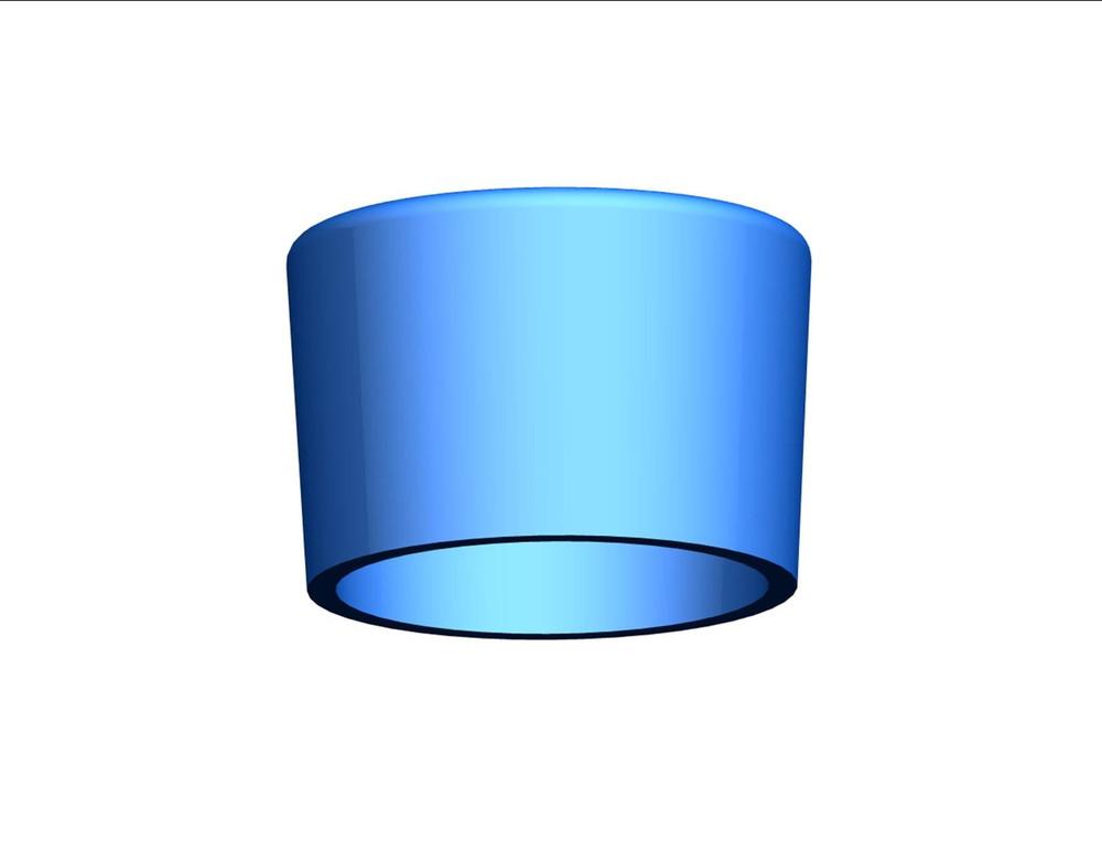 """BLUE PVC End Cap 3/4"""""""