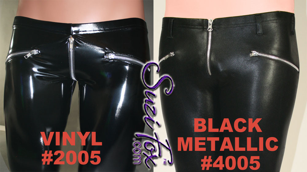 Difference in vinyl/pvc and black metallic foil (faux leather)
