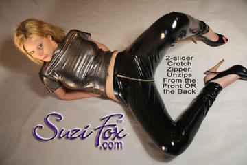 Optional 2-slider crotch zipper shown.