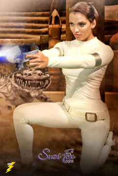 Padme costume! Womens Leggings shown in White Matte (no shine) vinyl/PVC, custom made by Suzi Fox.  You can order this in almost any fabric on this site.  • Custom made to your measurements! • Available in black, red, white, light pink, neon pink, fuchsia, purple, royal blue, navy blue, turquoise, black matte (no shine), white matte (no shine) stretch vinyl coated spandex. • 1 inch elastic at the waist. • Optional 1 or 2-slider crotch zipper. • Optional ankle zippers • Optional rear patch pockets • Optional belt loops • Made in the U.S.A.