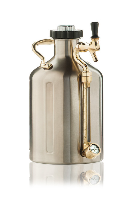 GrowlerWerks Ukeg 128oz Growler - Stainless Steel