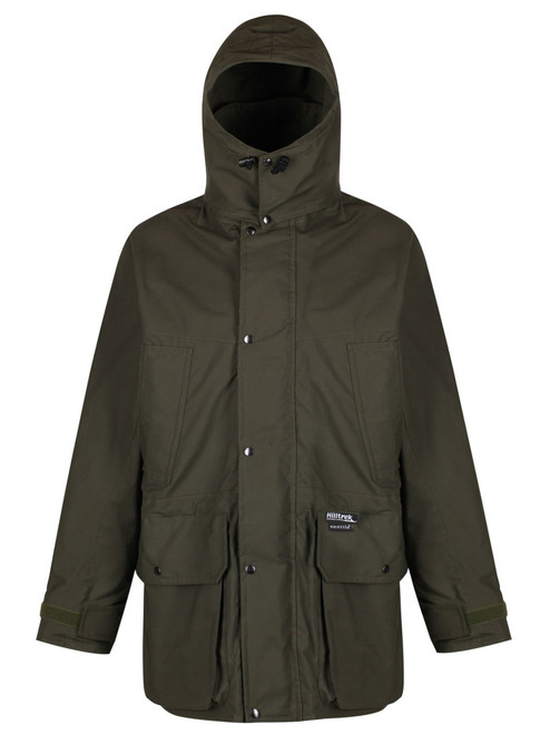 Colour: Olive. A fully specified double Ventile® Jacket ideal for a wide range of outdoor activities including field sports, bushcraft and birdwatching.