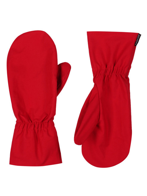 Tough, breathable, long cuffed overmitts for weatherproof protection of inner glove. Colour: Red.