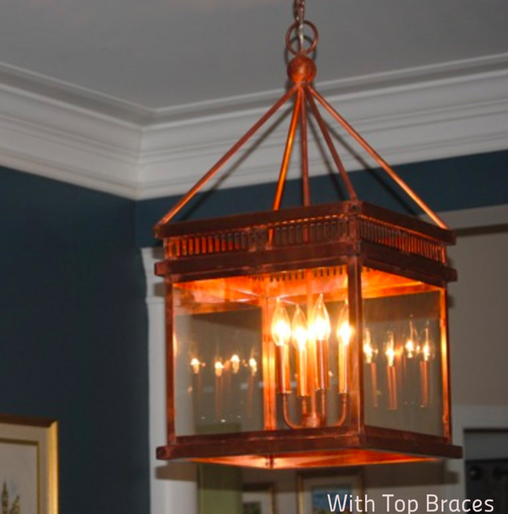 St. James Old Salt Run Copper Chandelier